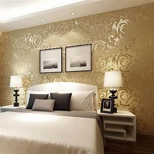 Hot 53cm x 10m Modern Luxury Cream Damask Textured ...