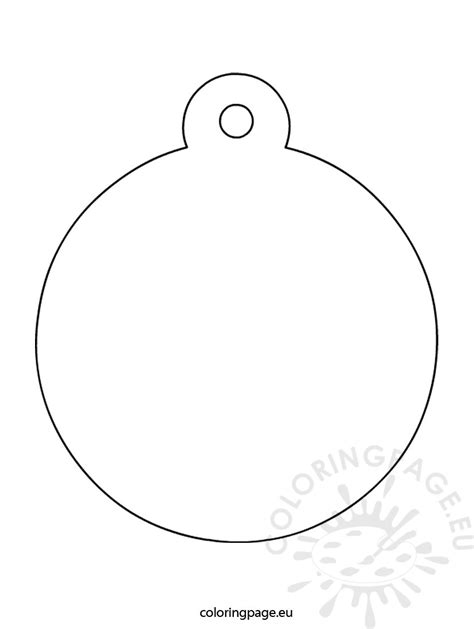 santa bauble colouring pages page 3