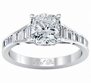 channel set baguette diamond engagement ring setting With baguette diamond wedding rings