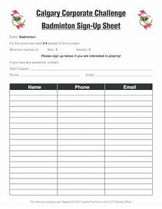Golf Tournament Sign Up Sheet Template 21 Printable Club Sign In Sheet Template Forms Fillable