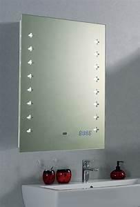 Spiegel 40 X 60 : led spiegel badspiegel rasier kosmetik wandspiegel uhr sensor 45x60 cm b led s ebay ~ Bigdaddyawards.com Haus und Dekorationen