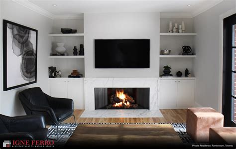 image of fireplace surround ideas modern gas fireplace in toronto