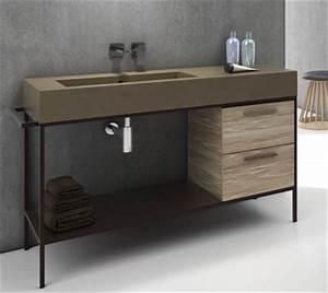 Meuble Salle De Bain Style Industriel : les tendances sont elles solubles dans la salle de bains styles de bain ~ Melissatoandfro.com Idées de Décoration