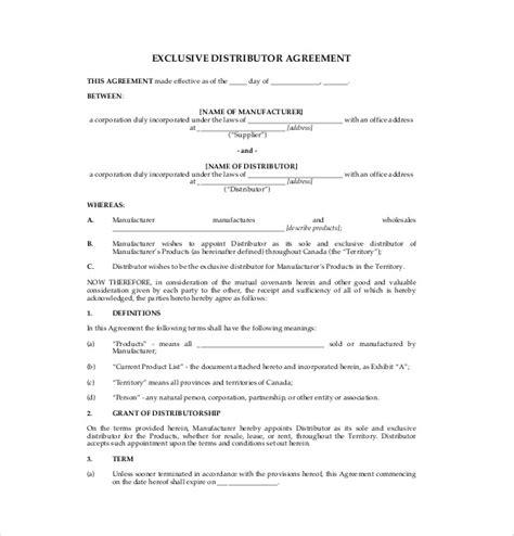 14+ Distribution Agreement Templates  Free Sample