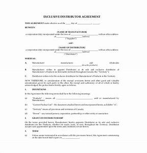 14 distribution agreement templates free sample With exclusivity contract template