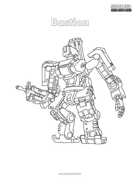 Kleurplaten Overwatch by Overwatch Bastion Coloring Page Coloring
