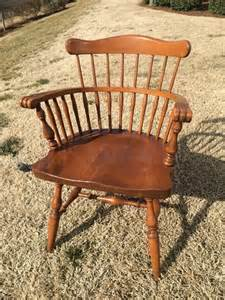 ethan allen by baumritter maple arm chair dining comb back