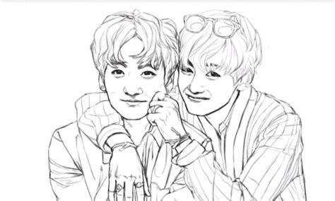 Vkook Fanart From Bts Coloring Book
