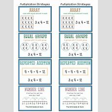 Multiplication Strategies Anchor Chart  Posters By Hoppytimes  Teaching Resources Tes