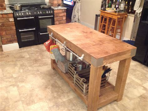 large kitchen island table large oak butchers block kitchen island table