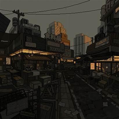 Waneella Pixel Scenery Patreon Vaporwave Aesthetic Anime