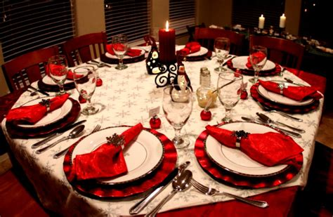 dinner table decorations for dinner parties image christmas dinner decoration ideas party table