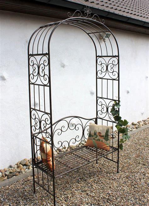 rosenbogen mit bank rosenbogen mit bank 120852 metall 250 cm gartenbank spalier pergola kletterhilfe ebay