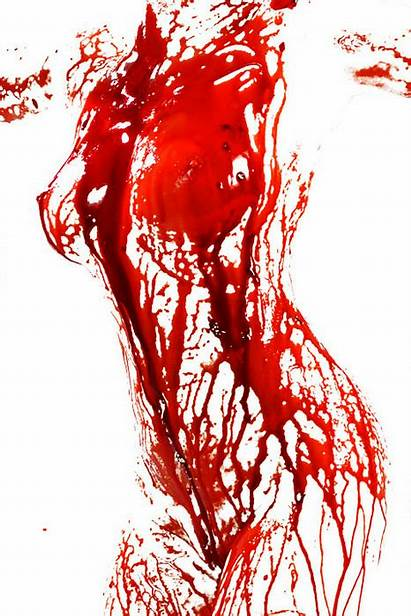 Blood Wraith Disturbing Bloody Woman Dark Paint