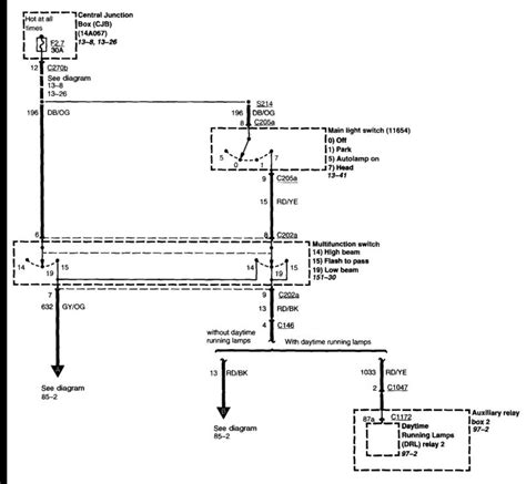 Wiring Diagram 2000 F350 Rear Light by Low Beams Problem Ford Truck Enthusiasts Forums