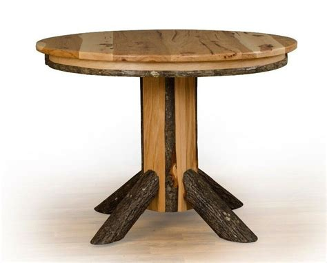 *all Hickory* Single Pedestal Round Dining Table (solid