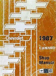 1987 Chevy Camaro Electrical Diagnosis Manual Original