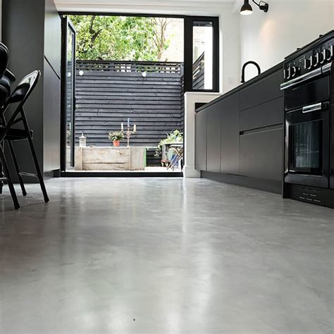 concrete kitchen floor ideas rev 234 tement sol en r 233 sine 233 poxy 35 id 233 es en photos 5671
