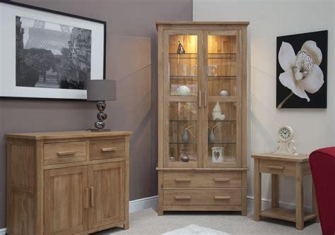wooden cabinets for living eton solid oak living room furniture glazed display