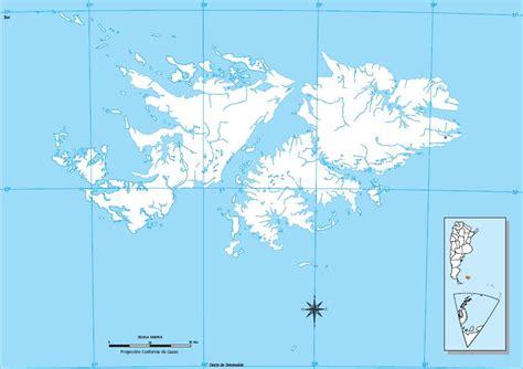 Mapa para imprimir de las Islas Malvinas Mapa mudo de las