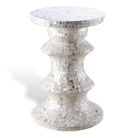 mother of pearl table l augustine modern mother of pearl side table tall kathy