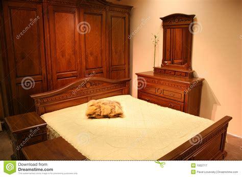 chambre en bois chambre à coucher en bois photographie stock libre