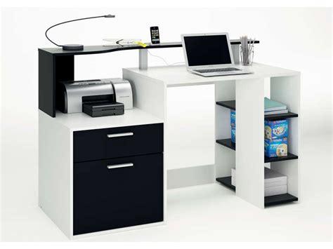 bureau oracle coloris blanc noir vente de bureau conforama