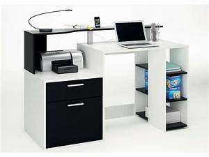 Petit Bureau Conforama : bureau oracle coloris blanc noir vente de bureau conforama ~ Teatrodelosmanantiales.com Idées de Décoration