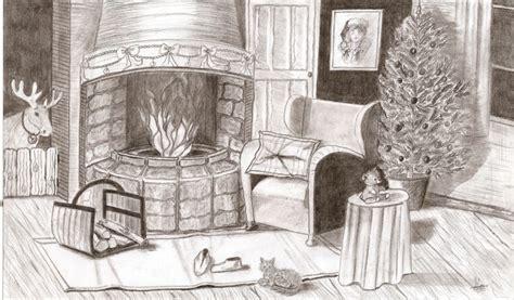 dessin interieur maison perspective