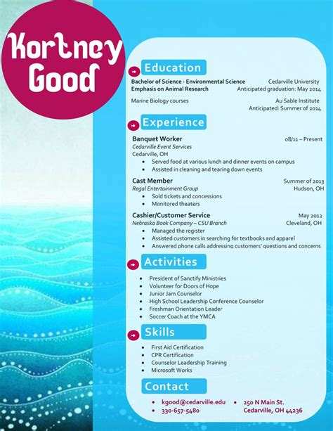 my design for a marine biology resume buy the template