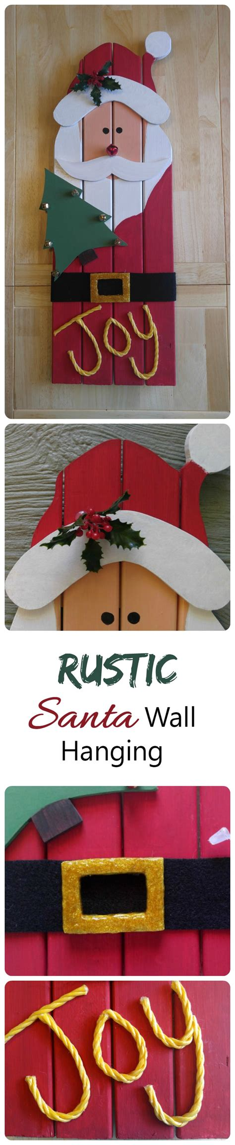 santa claus wall hanging diy christmas project