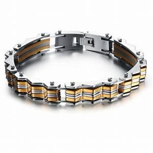 bracelet acier homme l39accessoire parfait With robe de cocktail combiné avec bracelet cuir luxe