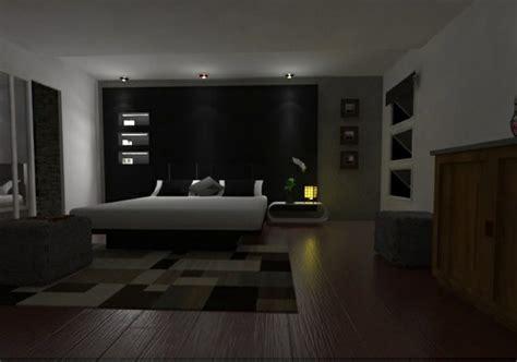 schwarze wandfarbe fuer schlafzimmer  bilder