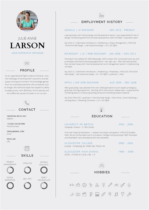Successful Cv Template by Professional Cv Template Design Sle