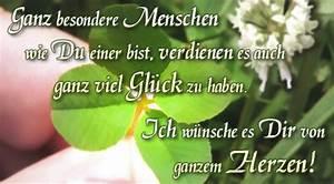 Einen Grünen Daumen Haben : gl ck kleeblatt herzen gru karten e cards postkarten w nsche ~ Markanthonyermac.com Haus und Dekorationen