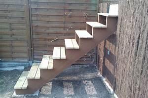 Construire Un Escalier Exterieur En Bois EVTOD