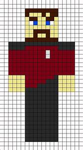 minecraft xephos skin perler bead pattern minecraft for With minecraft skin template grid
