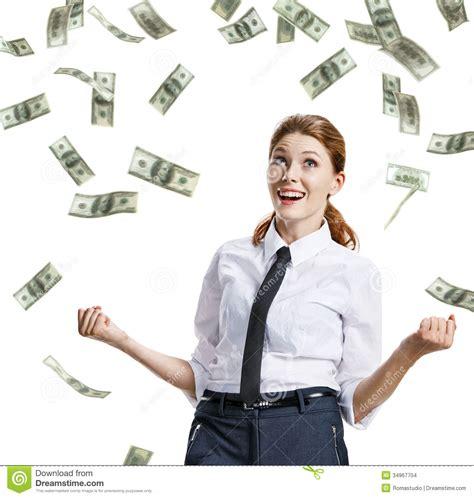 It Is Raining Money Stock Photo Image Of Luck, Female
