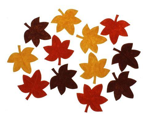 Herbstlaub Basteln Blaetter Deko Aus Papier by Herbstbl 228 Tter Aus Filz 4 5 Cm 12 St 252 Ck Eur 1 99