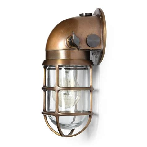 industrial bronze caged sconce by and stoll co