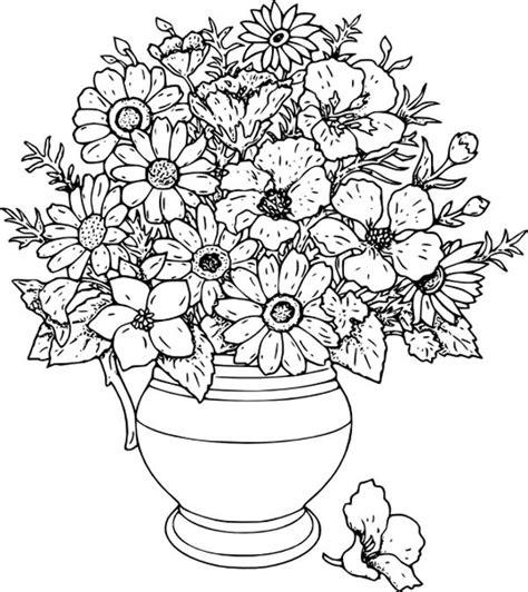 vasi di fiori da colorare disegni da colorare vasi di fiori 3