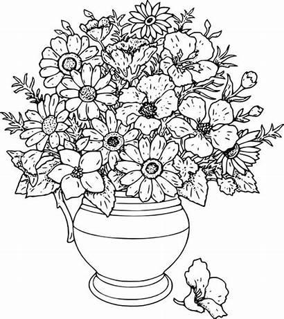 Desenho Vaso Colorir Flores Vasos
