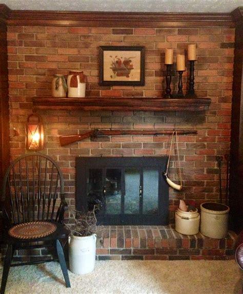 primitive fireplace primitive country decor pinterest