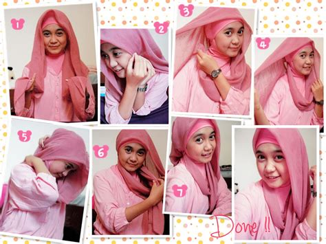 jilbab segiempat pin tutorial turban for easy on