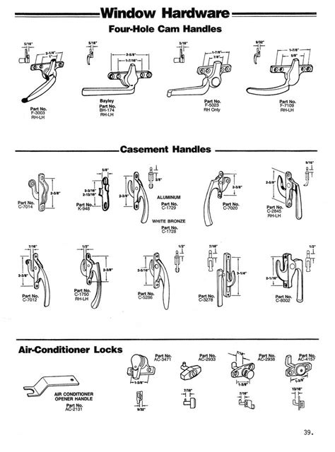 cam handles casement handles air conditioner locks wielhouwer replacement hardware specialists