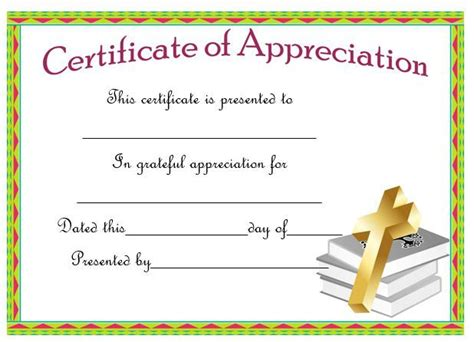 pastor appreciation certificate templates images