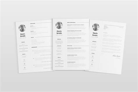 11370 minimal resume psd free clean and minimal resume template creativebooster
