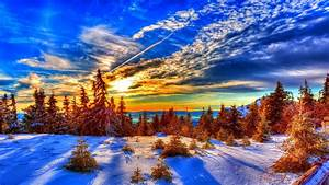 Winter Sunset HD Wallpaper
