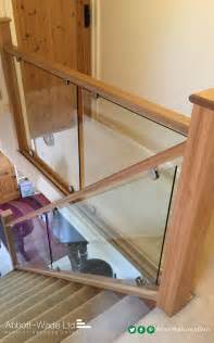 Glass Banisters by An Abbott Wade Oak Staircase With Glass Balustrade