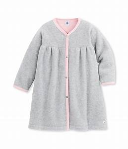 robe de chambre fille en polaire gris fumee petit bateau With robe de chambre fille polaire